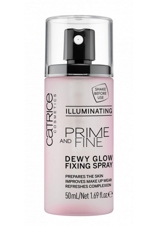 catrice prime and fine dewy glow fixing spray